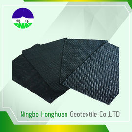 Recycled / Virgin Geotextile Woven Fabric Pp 160kn Split Film For Railway Project